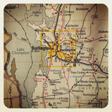 Burlington map Royalty Free Stock Photo