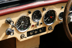 Burlington oldtimer dashboard Stock Photos