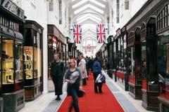 Burlington-Säulengang, London Lizenzfreies Stockbild