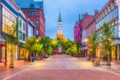 Burlington, Vermont, USA Stock Photography