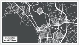 Burlington Vermont USA City Map in Retro Style. Outline Map. vector illustration