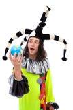 Burlone con il globo Fotografia Stock