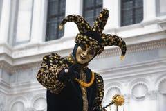 Burlone di carnevale Fotografia Stock