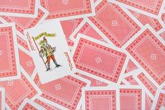 Burlone sulle schede di gioco Fotografia Stock Libera da Diritti