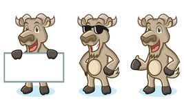 Burly Wood Goat Mascot happy Stock Photo