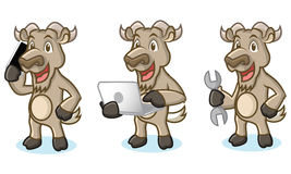 Burly Wood Mascot with laptop Royalty Free Stock Photo