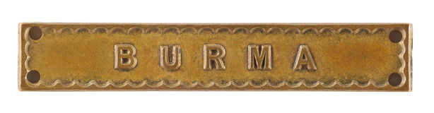 The Burma Bar or Clasp for World War Two medal Stock Image