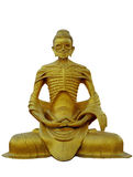Burma. Buddha Skeletal. Burma (Myanmar) Isolated Tall Buddha Skeletal Statue from Monastery near Namsaw royalty free stock photo