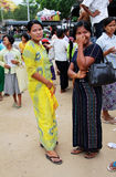 Burma elegant women Stock Photo