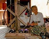 burma gammal kvinna royaltyfri foto