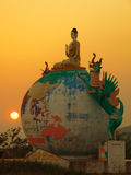 Burma. Global Buddha stock image