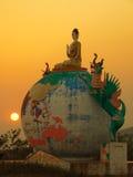 Burma. Global Buddha. Burma (Myanmar) Globe Buddha nr Namsaw stock image