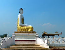 Burma Hilltop Buddha nr Namsaw Stock Photo