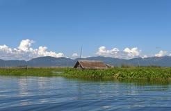burma inlelake myanmar Arkivbild