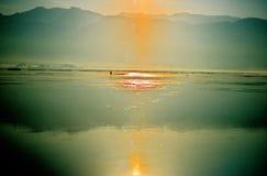 burma inlelake myanmar Fotografering för Bildbyråer