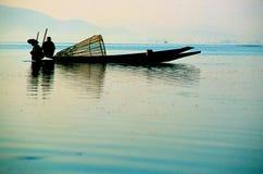burma inlelake myanmar Royaltyfri Fotografi