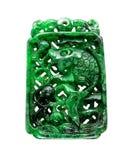 Burma jade fish carving Stock Image
