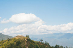 Burma Landscape. Sunny cloudy day at Burma and Thailand border Stock Image