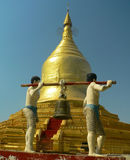 burma lawkanandamyanmar pagoda Arkivfoton