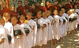 Burma monks Royalty Free Stock Photo