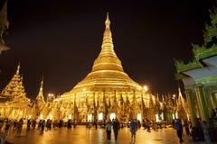 burma myanmar pagodashwedagon Arkivbilder
