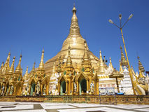 burma myanmar pagodashwedagon yangon Arkivbild