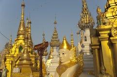 burma myanmar pagodashwedagon yangon Arkivfoto