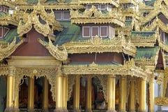 burma pagodashwedagon Royaltyfri Fotografi