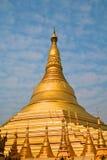 burma pagodashwedagon yangon Royaltyfri Bild