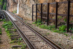 Burma railway (Death railway) Stock Photo