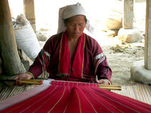 Burma. Senhora do tribo de Palaung Fotos de Stock