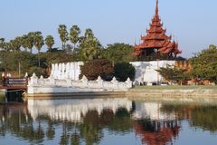 Burma sightseeing: Royal palace Mandalay Stock Images