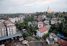 burma stad myanmar rangoon yangon Arkivbild
