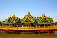 Burma style palace. In Thailand Stock Photography
