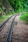 Burmajärnväg Arkivfoto