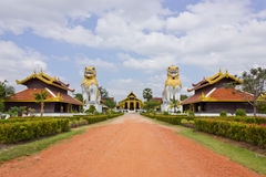 Burmese architecture. The walk to the palace of Burma royalty free stock photos