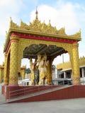 Burmese architecture. Place - Global pagoda, Mumbai, India stock photo