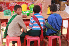 burmese barn Royaltyfri Bild