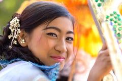 Burmese beautiful woman Royalty Free Stock Image