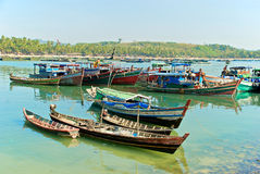 Burmese boat Royalty Free Stock Photography