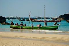 Burmese boat Royalty Free Stock Image