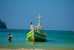 Burmese boat Stock Photography