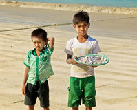Burmese boys Royalty Free Stock Images