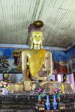 Burmese Buddha image at Wat Mon Sung-khan,Thailand Stock Photo