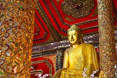 A Burmese Buddha statue Royalty Free Stock Photography