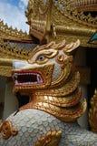 Burmese Buddhist Chimera Royalty Free Stock Photo
