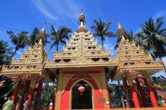 Burmese buddhist pagodas Royalty Free Stock Image