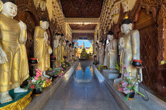 Burmese Buddhist Temple Interior Royalty Free Stock Photo