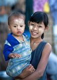 Burmese children Stock Photo