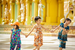 Burmese children Stock Photo